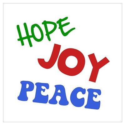 Hope Joy Peace Wall Art Framed Print