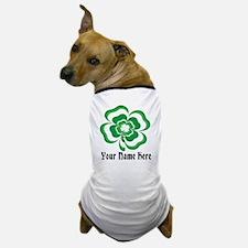 Customizable Stacked Shamrock Dog T-Shirt