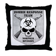 Zombie Response Team: Norfolk Division Throw Pillo