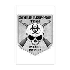 Zombie Response Team: Ontario Division Posters
