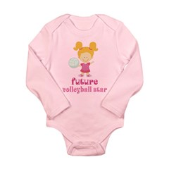 Future Volleyball Star Long Sleeve Infant Bodysuit