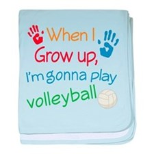 Future Volleyball Player baby blanket