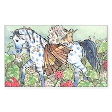 Horse Fairy/Faery & Bunnies Rectangle Decal