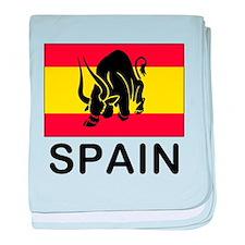 Spain Running Of The Bulls baby blanket