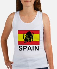 Spain Running Of The Bulls Women's Tank Top