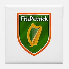 FitzPatrick Family Crest Tile Coaster