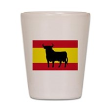 Spain Bull Flag Shot Glass