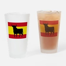 Spain Bull Flag Drinking Glass