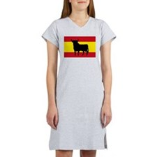 Spain Bull Flag Women's Nightshirt