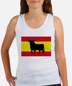 Spain Bull Flag Women's Tank Top