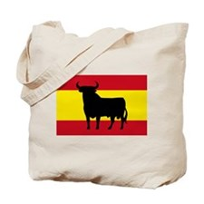 Spain Bull Flag Tote Bag