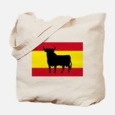 Spain Bull Flag Tote Bag
