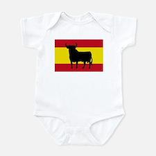 Spain Bull Flag Infant Bodysuit