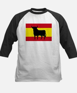 Spain Bull Flag Kids Baseball Jersey