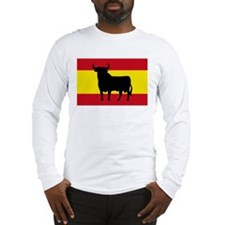 Spain Bull Flag Long Sleeve T-Shirt