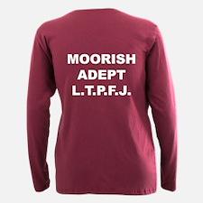 Moorish Adept Plus Size Long Sleeve Tee T-Shirt