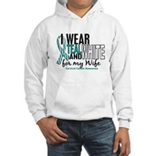 I Wear Teal White 10 Cervical Cancer Hoodie