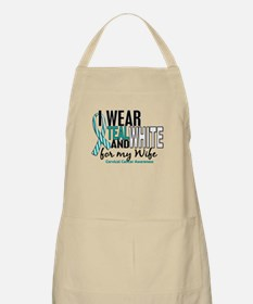 I Wear Teal White 10 Cervical Cancer Apron