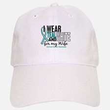 I Wear Teal White 10 Cervical Cancer Hat