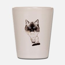 Ragdoll Caricature Shot Glass