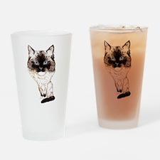 Ragdoll Caricature Drinking Glass