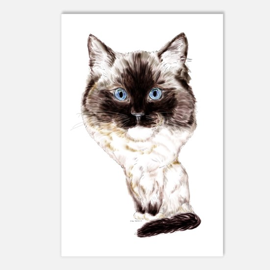 Ragdoll Caricature Postcards (Package of 8)
