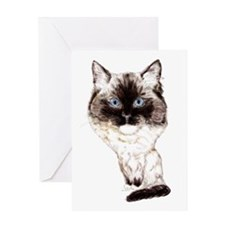 Ragdoll Caricature Greeting Card