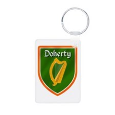 Doherty Family Crest Aluminum Photo Keychain