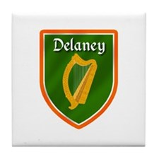 Delaney Family Crest Tile Coaster