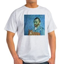 Vincent's Cat Ash Grey T-Shirt