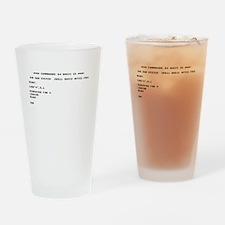 C64 Startup Drinking Glass