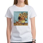 Sunflowers & Kitten Women's T-Shirt