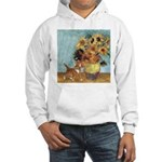 Sunflowers & Kitten Hooded Sweatshirt