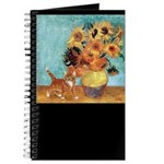 Sunflowers & Kitten Journal