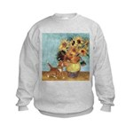 Sunflowers & Kitten Kids Sweatshirt