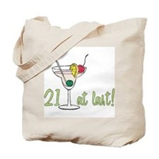 21 at Last B-Day Tote Bag