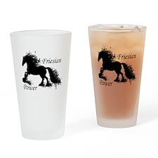 Friesian Power Drinking Glass