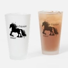 Friesian Power Drinking Glass