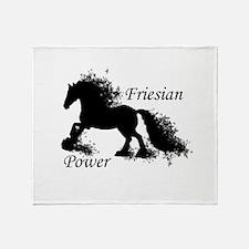 Friesian Power Throw Blanket
