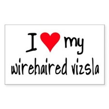 I LOVE MY Wirehaired Vizsla Decal