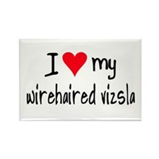I LOVE MY Wirehaired Vizsla Rectangle Magnet (10 p