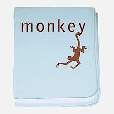 Classic Monkey baby blanket