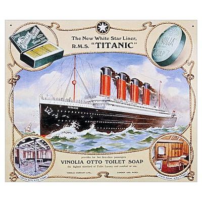 Titanic First Class Soap Wall Art Poster