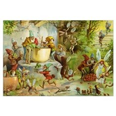 Gnomes, Elves & Forest Fairies Wall Art Canvas Art