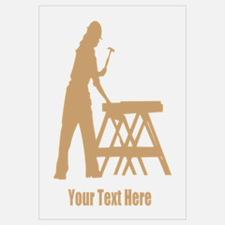 Carpenter. Add Your Text. Wall Art