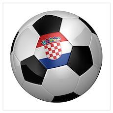 Croatian soccer ball Wall Art Poster