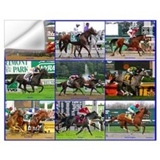 Horse Racing Poster Wall Decal