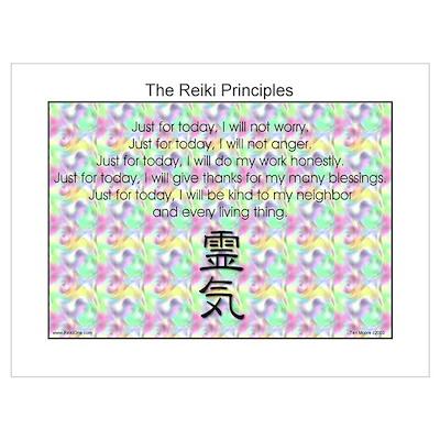 Reiki Principles #2 Wall Art Poster