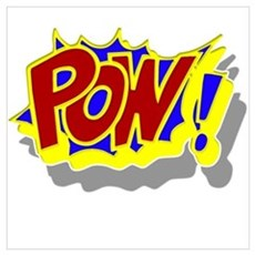 POW! Comic Book Style Wall Art Poster