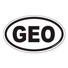 Georgia GEO Country Code Decal